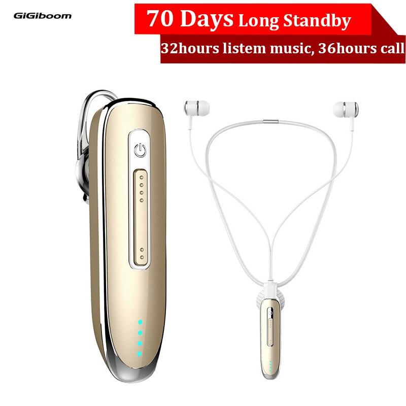 300 mAh Sport Stéréo Mini Sans Fil Bluetooth Casque Collier écouteurs bluetooth mains libres clip sur Écouteurs Casque