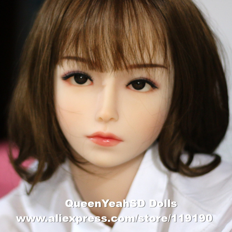 цены  Top Quality Sex Doll Head For Japanese Real Doll Silicone Adult Sexy Dolls Oral Sex Toy For Men