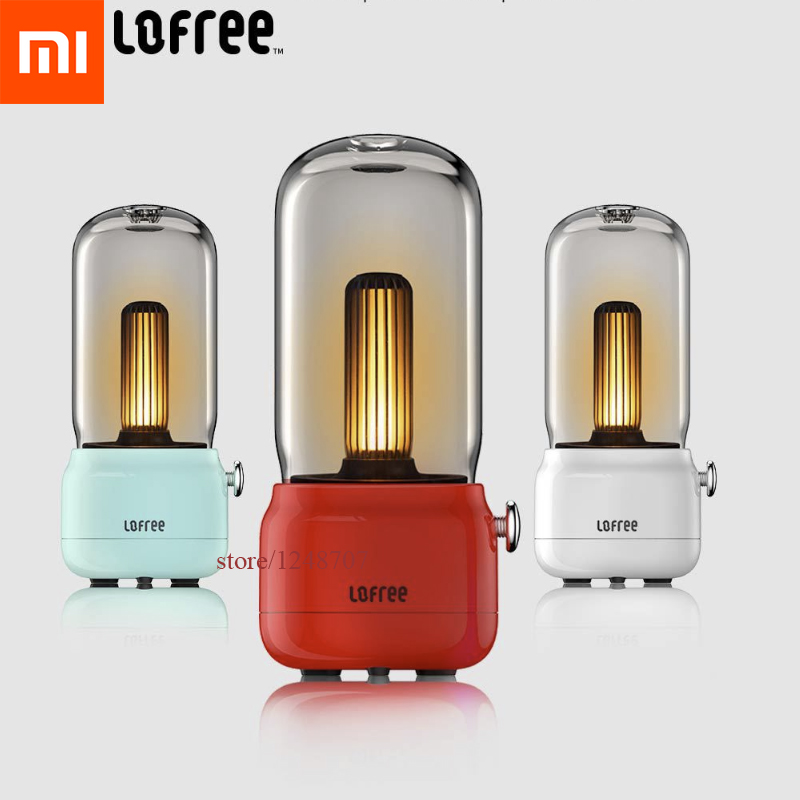Xiaomi Lofree Candly Light Portable Lmap 1800K LED Sound Source Atmosphere Retro Night Light Table Lamp