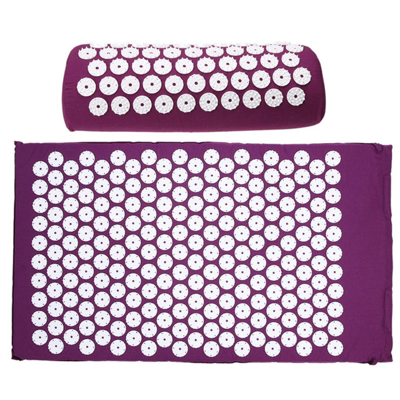 цены 1pcs Acupressure Massage Mat Relieve Stress Yoga Mat for Back Foot Massage Pain Relief Health Care Massager Cushion