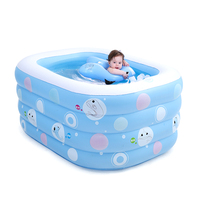 New Design Cartoon Inflatable Swimming Pool Baby Infant Toddler Water Playing Game Pools Eco friendly PVC Folding Swimming Pool