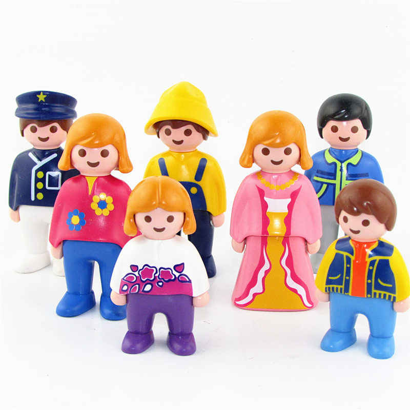 Mini Playmobil Figurine Toys For Children Original Playmobil Action Figures For Girls Fille Enfant School Students Christmas Toy