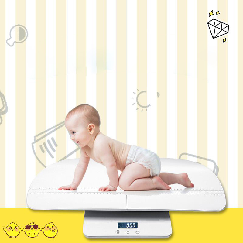 все цены на Multi-Function Digital Baby Scale Measure Baby/Adult Weight Accurately,Capacity with Precision of 10g, KG/OZ/LB, Length 60cm онлайн