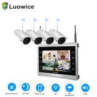 Аудио Беспроводной безопасности Камера Системы монитор 960 P 4CH Дома Видеонаблюдения Системы Встроенный 4 ТБ жесткий диск Крытый