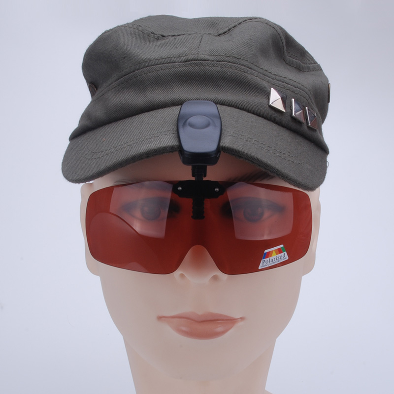 Vazrobe Clip on Polarized Sunglasses men women Flip Up Clamp Cap Anti-glare Driving/fishing/sport Glasses UV400 multifunction ...