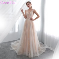 2019 New Champagne Lace Tulle Bohemian Wedding Dress Low Back Sexy Informal Bridal Gowns Boho Style