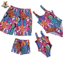 Family Look Leaf Swimsuits Mother Daughter Matching Swimwear Father Son Swim Shorts Mommy Dad And Me Bath Suits Clothes Outfits leopard swimsuits family matching swimwear mother daughter bikini dad son swim trunks mommy and me family outfits look e0200