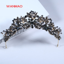 High-grade retro crown black handmade headdress bride crown wedding hair accessories dress accessories headband jewelry  HD214