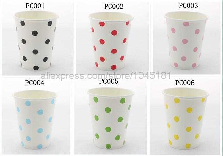 ipalmay <font><b>9</b></font> oz <font><b>White</b></font> Polka Dot <font><b>Paper</b></font> Drinking <font><b>Cups</b></font> Wedding Birthday Party Decoration Colored <font><b>Paper</b></font> <font><b>Cups</b></font> Wholesale