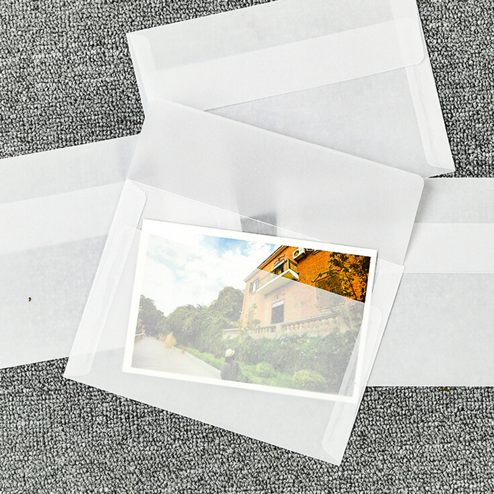 10pcs/lot Multifunction Korea Vintage Blank Translucent Vellum Envelopes DIY Ovely Gift Vegetable Parchment 17.5*12.5cm