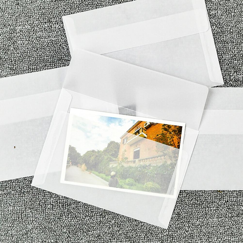10pcs/lot Multifunction Korea Vintage Blank Translucent Vellum Envelopes DIY Ovely Gift Vegetable Parchment 17.5*12.5cm