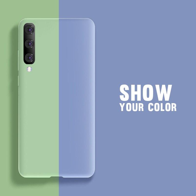 Soft Liquid Silicone Case For Samsung Galaxy A10 A20 A30 A40 A50 A70 A20E J4 J6