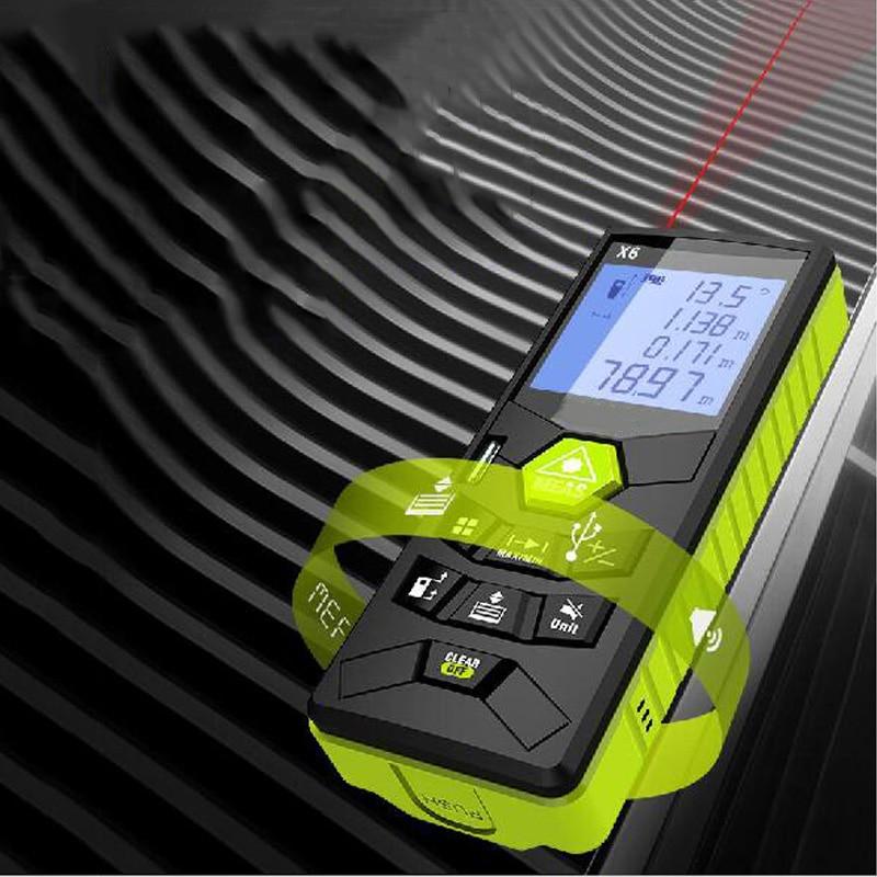 Voice broadcast rangefinder laser rangefinder infrared measuring instrument electronic ruler 50M 60M 80M 100M ruler test tool