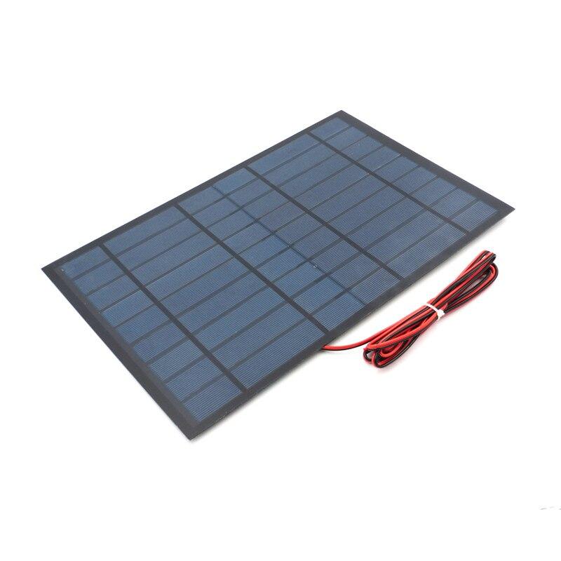 Fansaco 9 v 10 watt Tragbare Solar Panel Polykristalline Silizium DIY Batterie Sunpower Panel Power System Mini Solarzelle Mit kabel