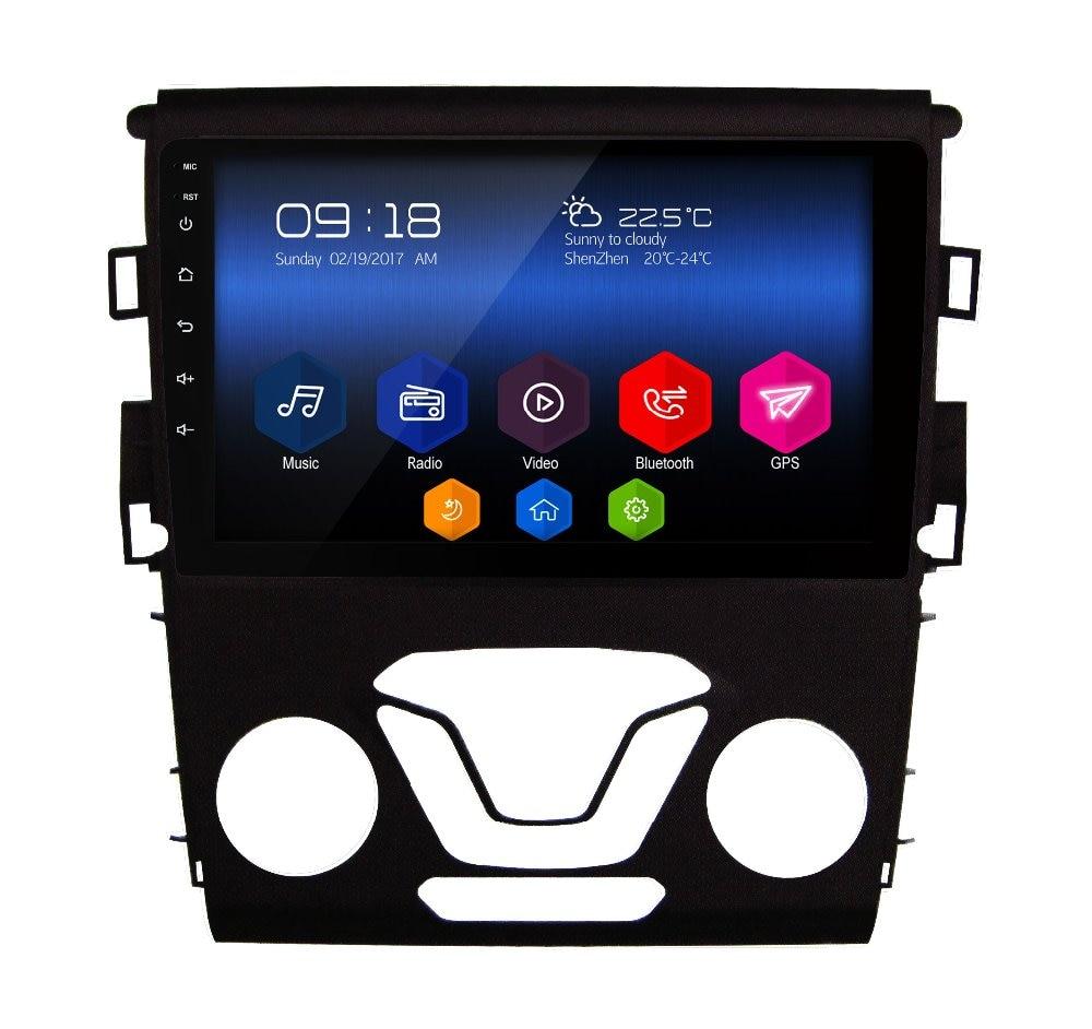 otojeta 9 hd big car DVD player headunit audio tape recorder android 6.0 gps navi for Ford Mondeo 2013 radio stereo multimedia