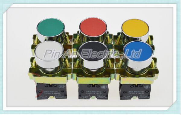 5pcs/Lot XB2-BA42 Red Self-reset Momentary Flush Pushbutton 1NC Flat Push Button Switch Replace Telemecanique 10pcs xb2 ea121 131 142 151 161 flat head economy self resseting momentary colorful push button switch 10a no nc 22mm