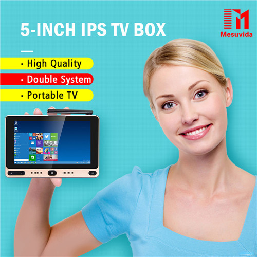 Mesuvida GOLE1 5-inch IPS Windows10&Android5.1 TV Box Intel Cherrytrail Z8300 Quad Core 4G 64G mini PC 5G WIFI Set Top Box