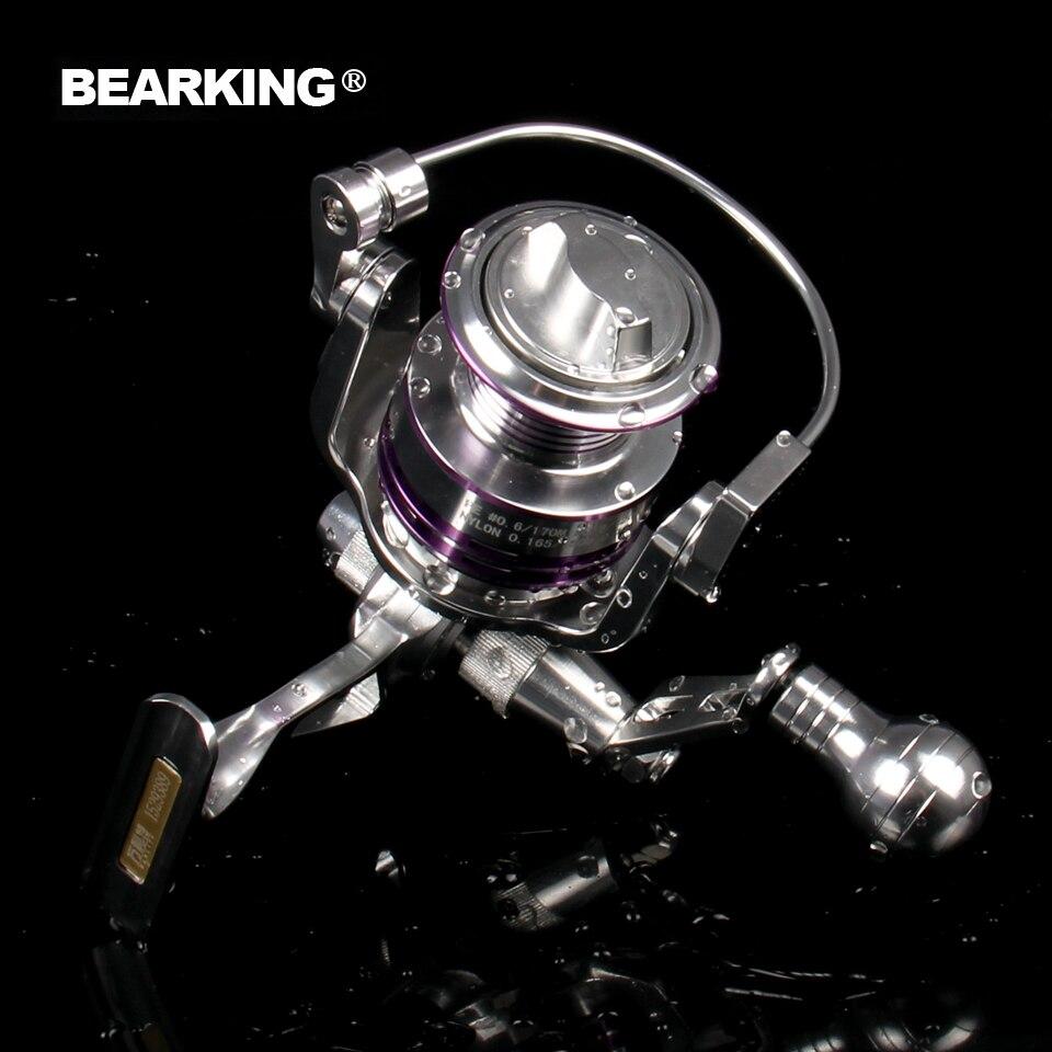 Новый 2017 Bearking 4000 3000 Спиннинг металлический Рыболовная катушка 10 + 1BB, передаточное число 5,2: 1, горячая Распродажа! Рыбалка катушечное колесо с...