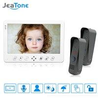JeaTone 10 High Разрешение Цвет Видеомонитор Интерком системы 1200TVL ИК Ночное видение открытый дверной Камера белый монитор