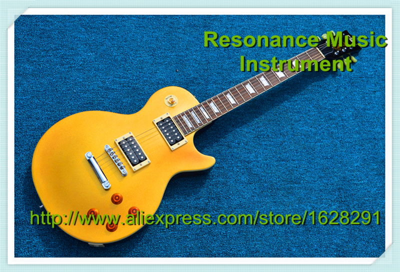 Wholesale and Retail LP Standard Electric Guitar Slash Appetite Yellow Model In Stock For Sale in stock vicers slash afd electric guitar les chinese paul lp style standard electric guitar with good quality guitarra