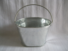 10Pcs/Lot D9*W7*H6CM Tin Pails Small Nursery Pots Zinc Bucket Galvanized Planter Oval Sharp Mini Buckets for Wedding