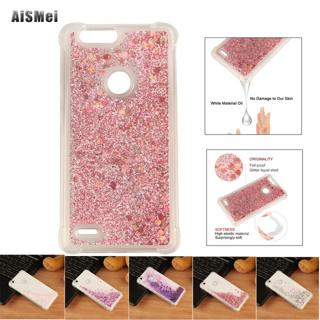 AiSMei Coque For ZTE Blade Z Max Z982 Case Capa Anti-knock Colorful Soft Quicksand Filp Back Cover Fundas for ZTE Z982 Cases