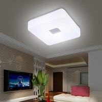 Darmowa wysyłka nowoczesne Led do montażu podtynkowego montowane na powierzchni kwadratowe oświetlenie sufitowe LED do salonu Foryer oświetlenie przedpokoju w Oświetlenie sufitowe od Lampy i oświetlenie na