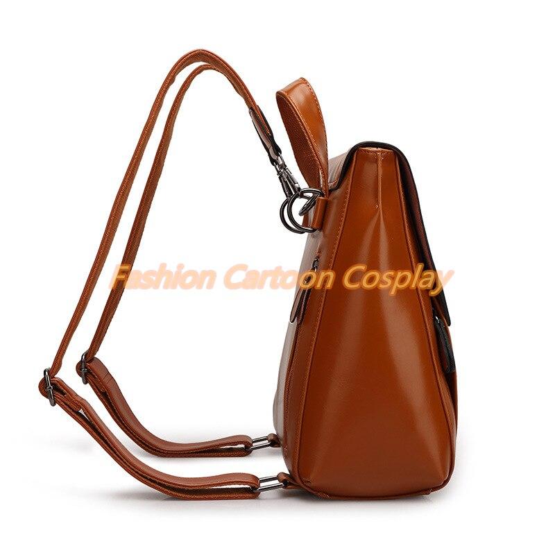 Fashion Women Real Leather Backpack Mochila Lady Genuine Leather Backpacks  Preppy Style Leather School Bag Kanken Backpack-in Backpacks from Luggage    Bags ... 7d7f8ec5cf590