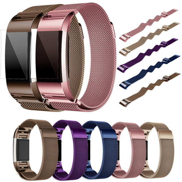 CLAUDIA magnetic milannese Loop Band for fitbit charge 2 smart bracelet high quality stainless steel strap for charge 2 band
