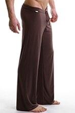 Днища сна пижамы мужские повседневные брюки мягкие удобные мужские Домашняя Одежда повседневная брюки пижамы свободные Lounge одежда(China (Mainland))