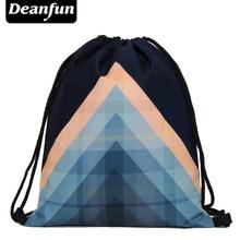Deanfun 2016 womens daypacks printing bag for beach mochila feminina harajuku drawstring bag mens backpacks trianglet op s25