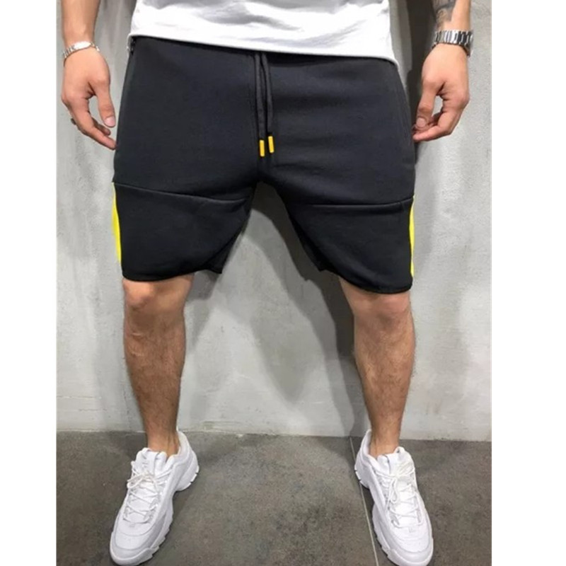 2019 summer new men 39 s explosions casual sports shorts men 39 s self cultivation colorblock zipper fitness jogging 5 points shorts in Casual Shorts from Men 39 s Clothing