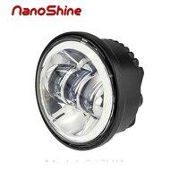 Nanoshine ledオートバイのヘッドライトハイ/ロービームモーターledヘッドランプ光源駆動用ハーレーダビッドソンプロジェクターdaymaker