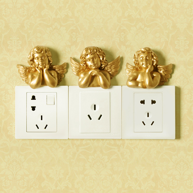 European resin switch plate Wall hangings Decorative Wall Stickers ...