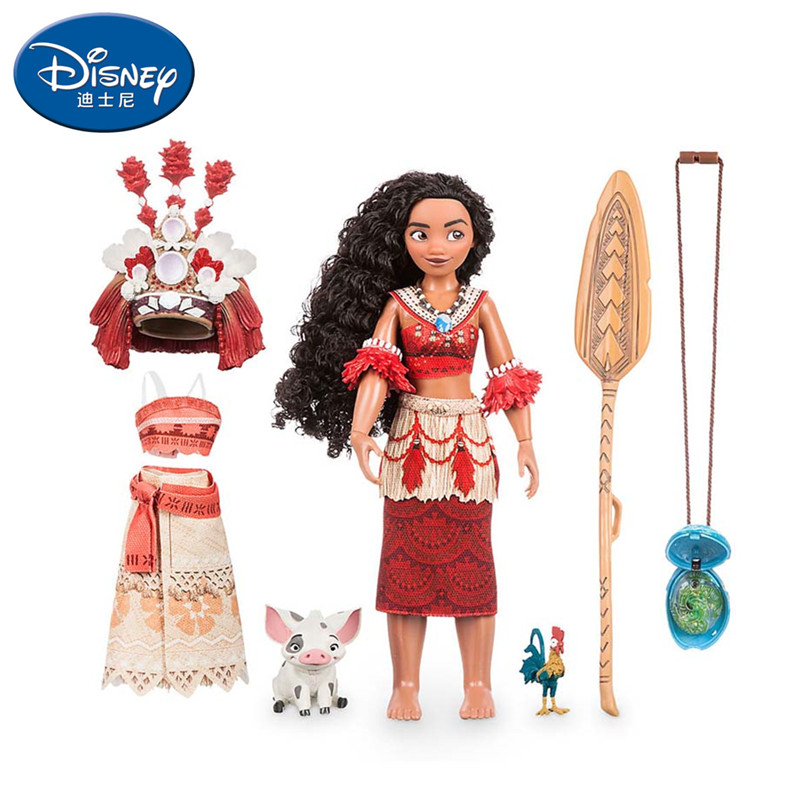 Vaiana Boneca moana movie Waialiki Maui Heihei doll model with music action figure Christmas gift children's toys