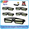 5PCS Active Shutter 144Hz 3D Glasses For Acer/BenQ/Optoma/View Sonic/Dell DLP-Link Projector Free Shipping!