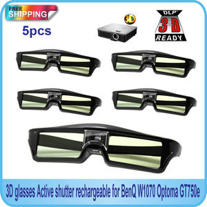 5 PCS Active Shutter 144Hz 3D Glasses For Acer/BenQ/Optoma/View Sonic/Dell