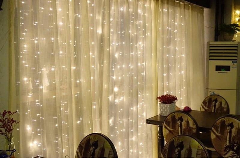 3x2/4x2/6x3 м светодиодный Свадебный Сказочный светильник, Рождественский светильник 300, светодиодный Сказочный светильник, гирлянда для сада, вечерние украшения для штор