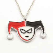 Suicide Squad Necklace Clown Joker Pendants Necklaces Charms Choker Necklace for Boys Man Movie Jewelry gift