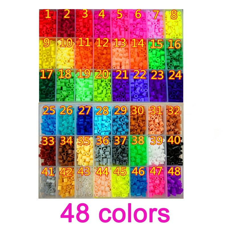 48 Color Perler Beads 5000pcs ironing beads 5mm Hama Beads Fuse Beads jigsaw puzzle diy стоимость