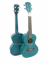 """26 """"Tenor Akustische Ukulele Uke Instrument Mit Voller Flamme Maple Top/Körper, ukulele gitarren, mini 4 Saiten gitarre, Blau/Orange Satin"""