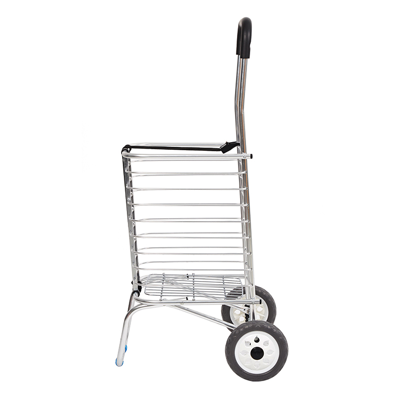 7441ae1c369a US $39.59 |Foldable Shopping Trolley Supermarket Supply Aluminum Alloy  Shopping Cart Storage Furniture Two Wheels carrello-in Kitchen Islands & ...
