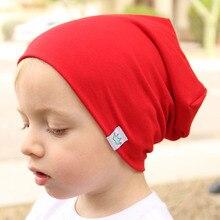 Moda lindo sólido de algodón de punto sombrero gorro para bebé recién  nacido niños Otoño Invierno b449e536b92