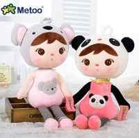 22cm metoo boneca de pelúcia doce bonito recheado brinquedos mochila pingente bebê crianças brinquedos para meninas aniversário natal melhores presentes