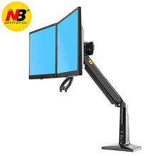 NB F27 Full Motion 22-27 inch Dual Screen Monitor Holder Long Arm Desktop Mount Support with USB3.0