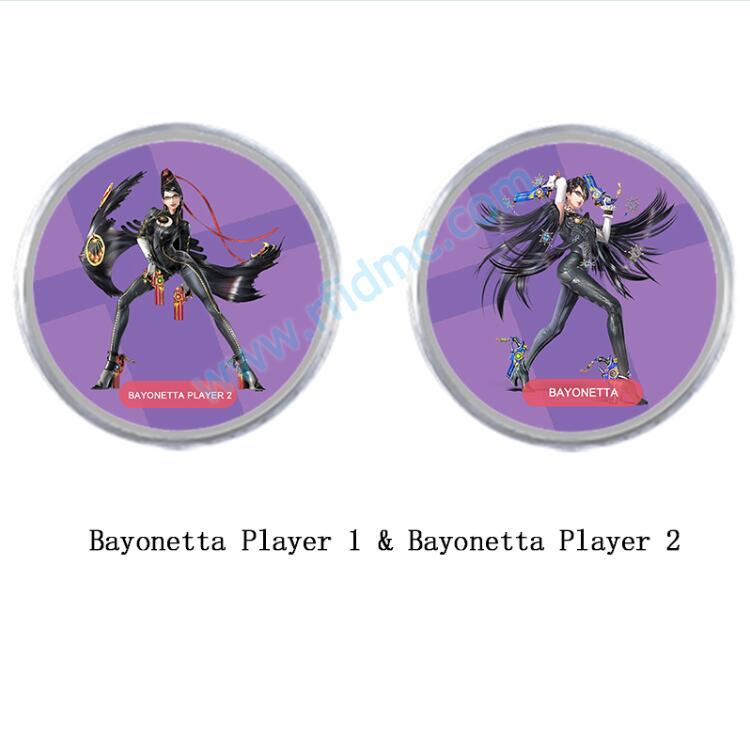 Mini Tag NFC Amiibo Coin Tag Bayonetta Player 1 And Bayonetta Player 2