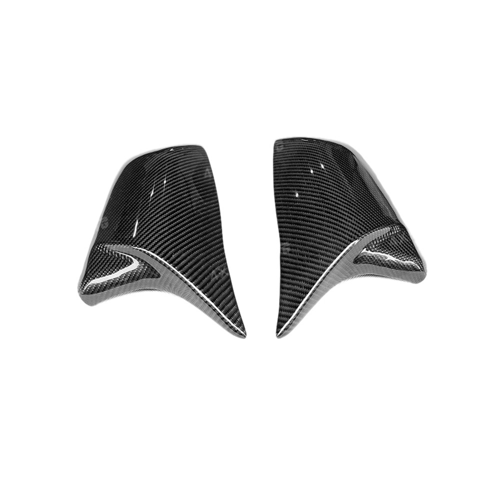 For BMW X1 F48 F45 F49 CF Mirror cover 2 Series Touring F45 F46 GT 220i 228i M235i X2 F39 Carbon Mirror Cover Gloss Black 2014+