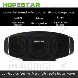 Image 5 - Hopestar H20 Portable Bluetooth Speaker waterproof mp3 Music column Wireless 30W PC tv Sound bar box Stereo Subwoofer for xiaomi