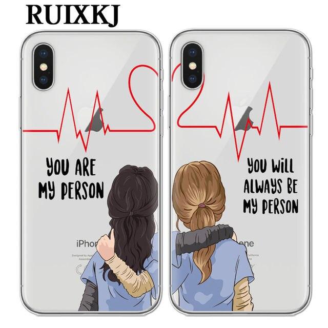 Tu és A Minha Pessoa Para Fundas iPhone X 8 7 6 6 s Plus SE 5S Greys Anatomy TPU Macio tampa Da Caixa Do Silicone New Arrivals Casos Originais