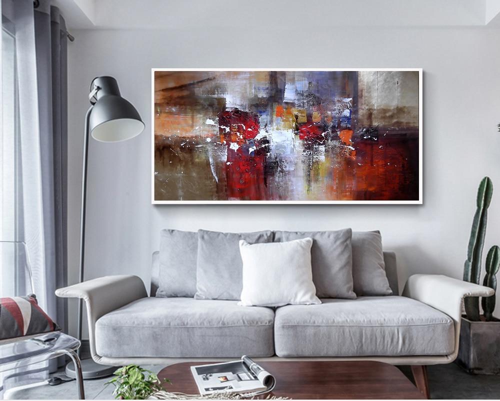 Abstract Modern Large Canvas Wall Art Huge Handmade Oil